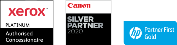 Xerox Platinum Partner, Canon Silver Partner, HP Gold Partner First Specialist